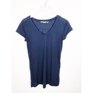 Athleta T-Shirt Dress Thin Coverup Beach Navy